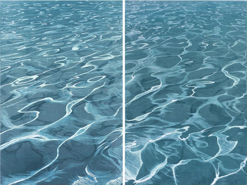 «Aegean Sea Odes», diptych